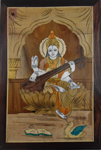 Rosewood inlay Wall Hanging - Saraswathi Panel