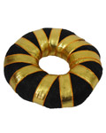 Bharatanatyam Soft Ring Bun with Golen Tape -Large