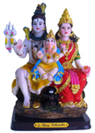 Enchanting Colorful Shiva Family