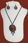 Terracotta Necklace Earring Set