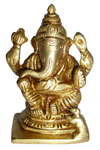 Eternal Antique Floral Trunk Ganesh