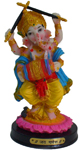 Enchanting Colorful Dandia Ganesh - Yellow