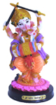 Enchanting Colorful Dandia Ganesh - Orange