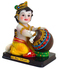 Enchanting Colorful MDF Butter Krishna