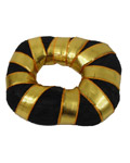 Bharatanatyam Soft Ring Bun with Golen Tape -Small