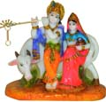 Radhakrishna with cow