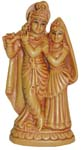 Radhakrishna with Peacock - Wood Finish