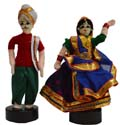 Couple  Pair - Green and Red Rajasthan