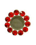 Lustre Tea light diya-red