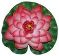Fancy Floral Floating Lotus - Lite Red