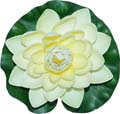 Fancy Floral Floating Lotus - White