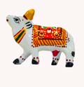 Silvery Cow - Enamel Painted