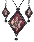 Earthen Painted Necklace Earring Sets