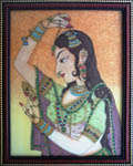 Gemstone  Lady Wearing Nethi Chutti (Jewellery)