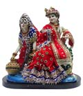Enchanting Radha Krishna by the Lake