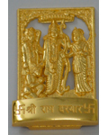 Brass Polished Golden Ram Darbar