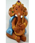 Earthen Ganesh with Violin