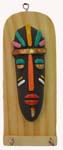 Earthen Tribal Face Key Holder
