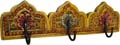 Wood Decor  Cloth Hanger Yellow Antique Finish
