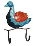 Indian Wrought Iron Duck Key Hanger
