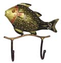 Indian Wrought Iron Fish Key Hanger