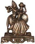 Radha Krishna Wall Hanging Antique Copper Color