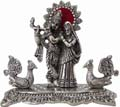 Silvery Radha Krishna Antique Finish