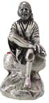Silvery Sai Baba Antique Finish