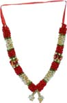 Fancy Satin Mala - Red White Red